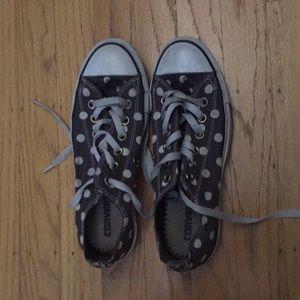 Converse women's low tops 7 polka dot pattern